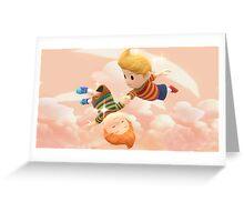 Super Smash Bros. Lucas and Claus Greeting Card