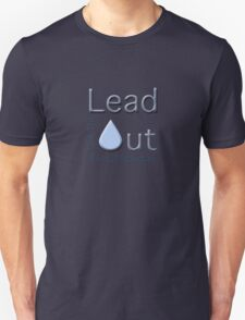 """Get the Lead Out Flint Michigan"" typography Unisex T-Shirt"