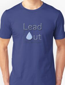 """""""Get the Lead Out Flint Michigan"""" typography Unisex T-Shirt"""