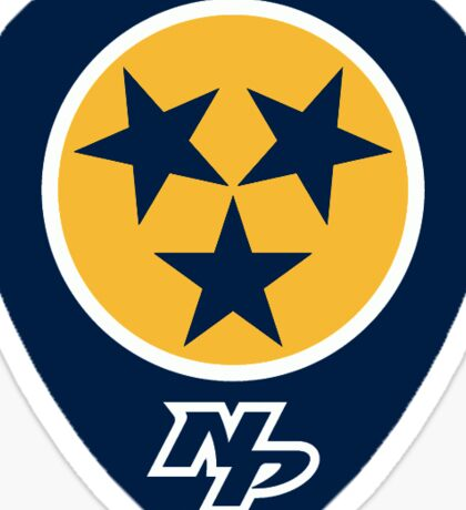 Nashville Predators guitar pick Sticker