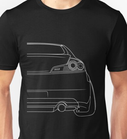 G35 rear outline - white Unisex T-Shirt