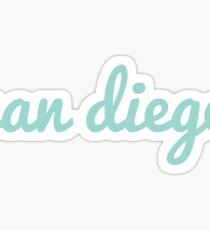 San Diego - LIGHT GREEN Sticker