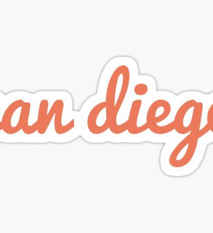 San Diego - ORANGE Sticker