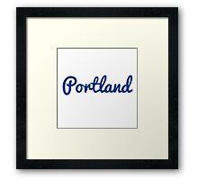 Portland - BLUE Framed Print