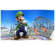 Super Smash Bros. Luigi Poster