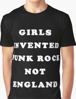 GIRLS INVENTED PUNK ROCK Graphic T-Shirt