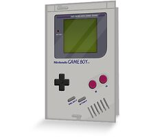 Classic Gameboy Greeting Card