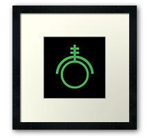 Green colourCaste - Electronics Framed Print