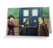 Dueling Umbrellas Greeting Card