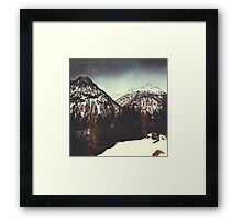 End of Winter in the mountains Framed Print