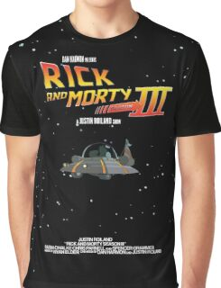 BTTF Style Rick And Morty Season 3 Poster Graphic T-Shirt