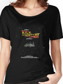 BTTF Style Rick And Morty Season 3 Poster Women's Relaxed Fit T-Shirt