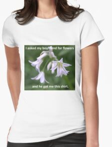 Valentines Day Flowers Womens Fitted T-Shirt