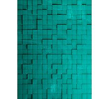 Pixel pattern green Photographic Print