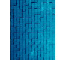 Pixel pattern blue Photographic Print