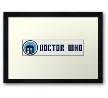 Doctor Who - Logo Framed Print