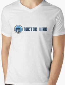 Doctor Who - Logo Mens V-Neck T-Shirt