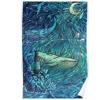 Moonlit Sea Poster