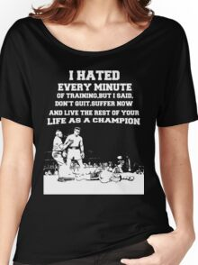 boxing quotes Women's Relaxed Fit T-Shirt