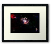 red planet galaxy  Framed Print
