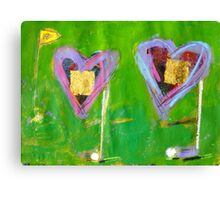 2 Hearts Golfing as 1 Canvas Print