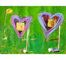 2 Hearts Golfing as 1 Photographic Print