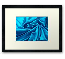Blue Satin Framed Print