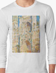 1894-Claude Monet-Rouen Cathedral, West Façade, Sunlight-65 x 100 Long Sleeve T-Shirt