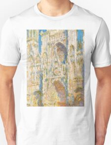 1894-Claude Monet-Rouen Cathedral, West Façade, Sunlight-65 x 100 T-Shirt