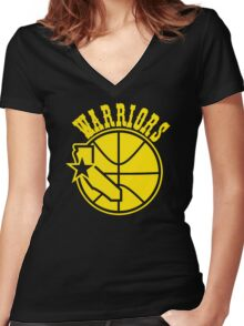 golden state warriors Women's Fitted V-Neck T-Shirt