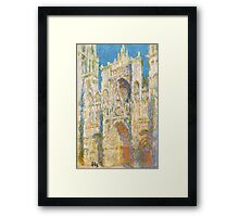 1894-Claude Monet-Rouen Cathedral, West Façade, Sunlight-65 x 100 Framed Print
