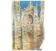 1894-Claude Monet-Rouen Cathedral, West Façade, Sunlight-65 x 100 Poster