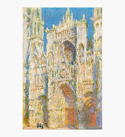 1894-Claude Monet-Rouen Cathedral, West Façade, Sunlight-65 x 100 Photographic Print