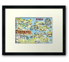 Original Map of Hyrule Framed Print