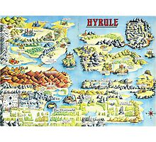 Original Map of Hyrule Photographic Print