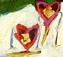 2 Hearts Skiing as 1 by Gregory Burns