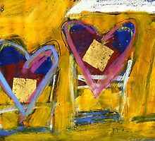 2 Hearts Beached as 1 by Gregory Burns