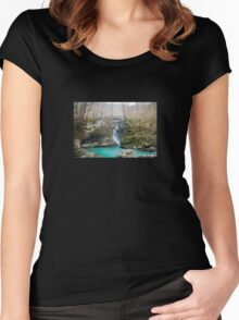 Waterfall on Kozjak River Women's Fitted Scoop T-Shirt