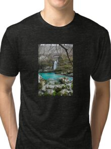 Waterfall on Kozjak River Tri-blend T-Shirt
