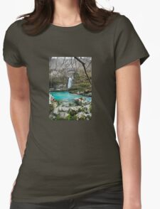 Waterfall on Kozjak River Womens Fitted T-Shirt