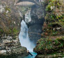 Waterfall on Kozjak River Sticker