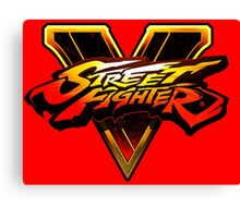 Street Fighter 5 Logo Canvas Print