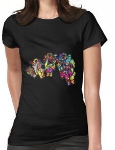 Space Voyage Womens Fitted T-Shirt