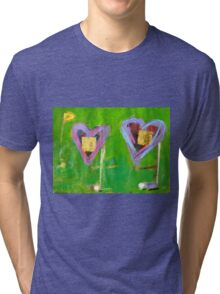 2 Hearts Golfing as 1 Tri-blend T-Shirt