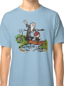 Bilbo and Gandalf Inspired Calvin And Hobbes Classic T-Shirt