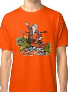 Bilbo and Gandalf Inspired Calvin And Hobbes Classic T-Shirt