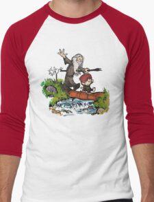 Bilbo and Gandalf Inspired Calvin And Hobbes Men's Baseball ¾ T-Shirt