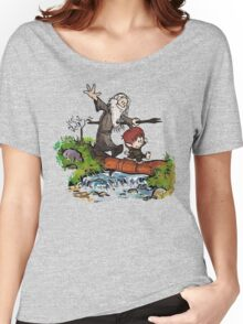 Bilbo and Gandalf Inspired Calvin And Hobbes Women's Relaxed Fit T-Shirt