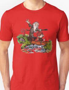 Bilbo and Gandalf Inspired Calvin And Hobbes T-Shirt