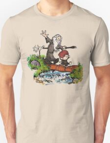Bilbo and Gandalf Inspired Calvin And Hobbes Unisex T-Shirt
